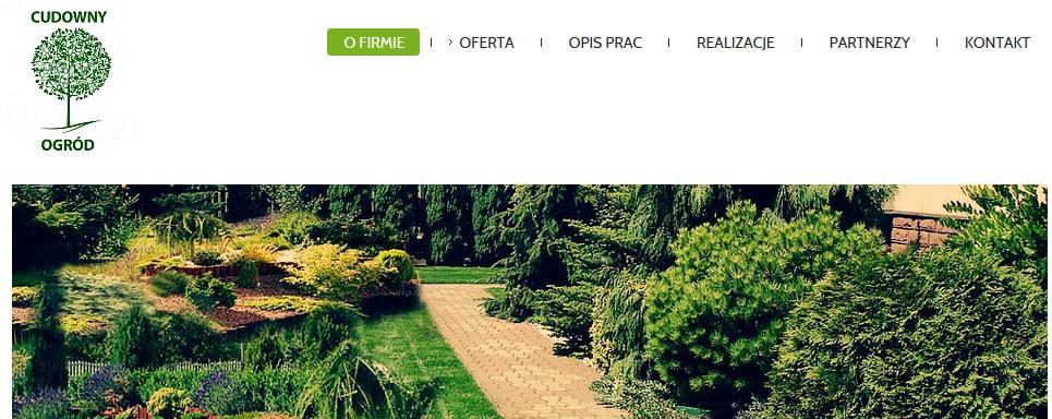 cudownyogrod.com – strona firmy projektującej ogrody