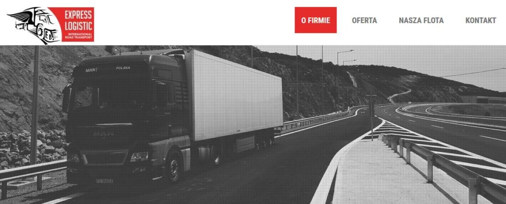 expresslogistic.com.pl – strona internetowa firmy transportowej
