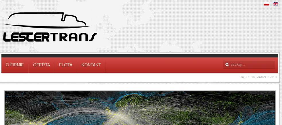 lestertrans.eu – strona firmy spedycyjnej