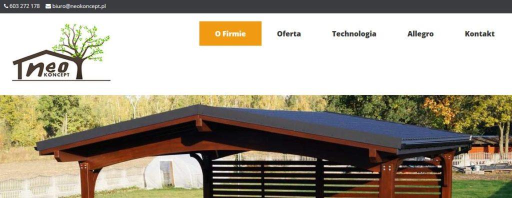 neokoncept.pl – strona producenta wiat, altan i carportów