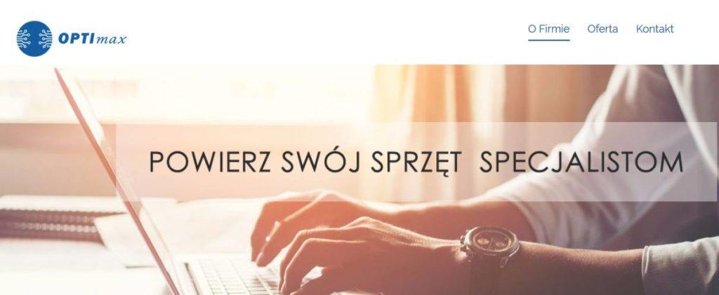 optimaxsc.pl – strona serwisu elektronicznego