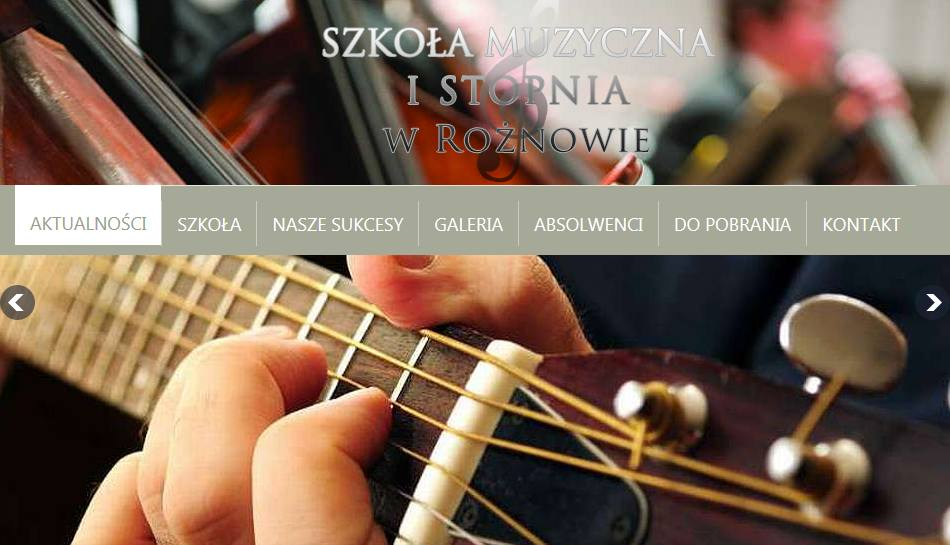 smroznow.pl – strona internetowa szkoły muzycznej