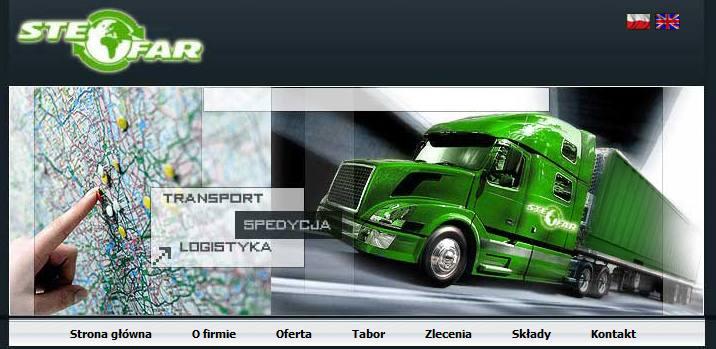 stefar.pl – strona firmy transportowej